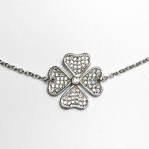 Jewelry - NEW .925 Four Leaf Clover Sterling Silver Bracelet